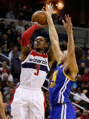 The Wizards' Bradley Beal and Warriors' Klay Thompson are part of elite guard duos.