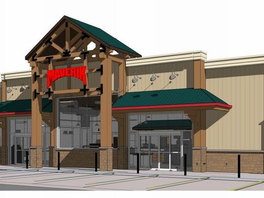 An artist's rendering of the Maverik convenience store and gas station on East Mulberry Street in Fort Collins. Maverik is considering its second store in Northern Colorado at I-25 and Hwy. 392 at the Windsor exit.