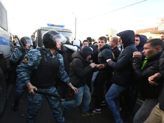 russia riots