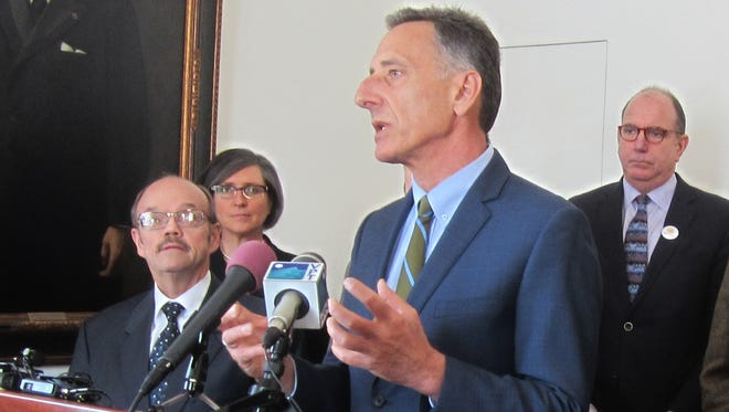 Gov. Peter Shumlin touts initiatives that his administration and lawmakers are considering to help grow jobs in March. Thursday he said IBM's investment in research was good but the impact on the Vermont plant unclear.