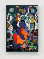 """Amid bright abstract shapes, German artist Franz Ackerman has inserted photos of our neighbor to the south in """"Tears (Traveling to Mexico)."""""""