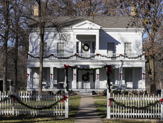The Charles A. Grignon Mansion in Kaukauna is decorated