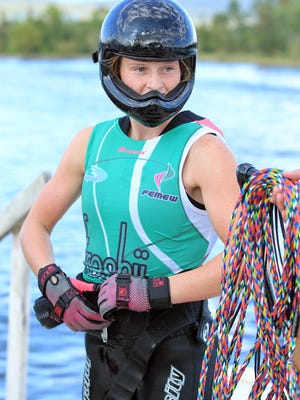Milton teen Kennedy Hansen prepares to ski at the 2016 U13 Pan Am Championships in Mexico. Hansen took home four gold medals -- including the Overall individual gold -- and a silver at the competition.