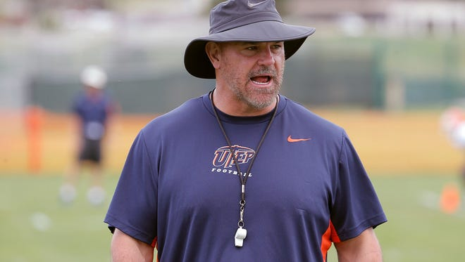 Sean Kugler is the head coach of the University of Texas at El Paso football team.