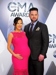 David Nail and wife Catherine arrive on the red carpet