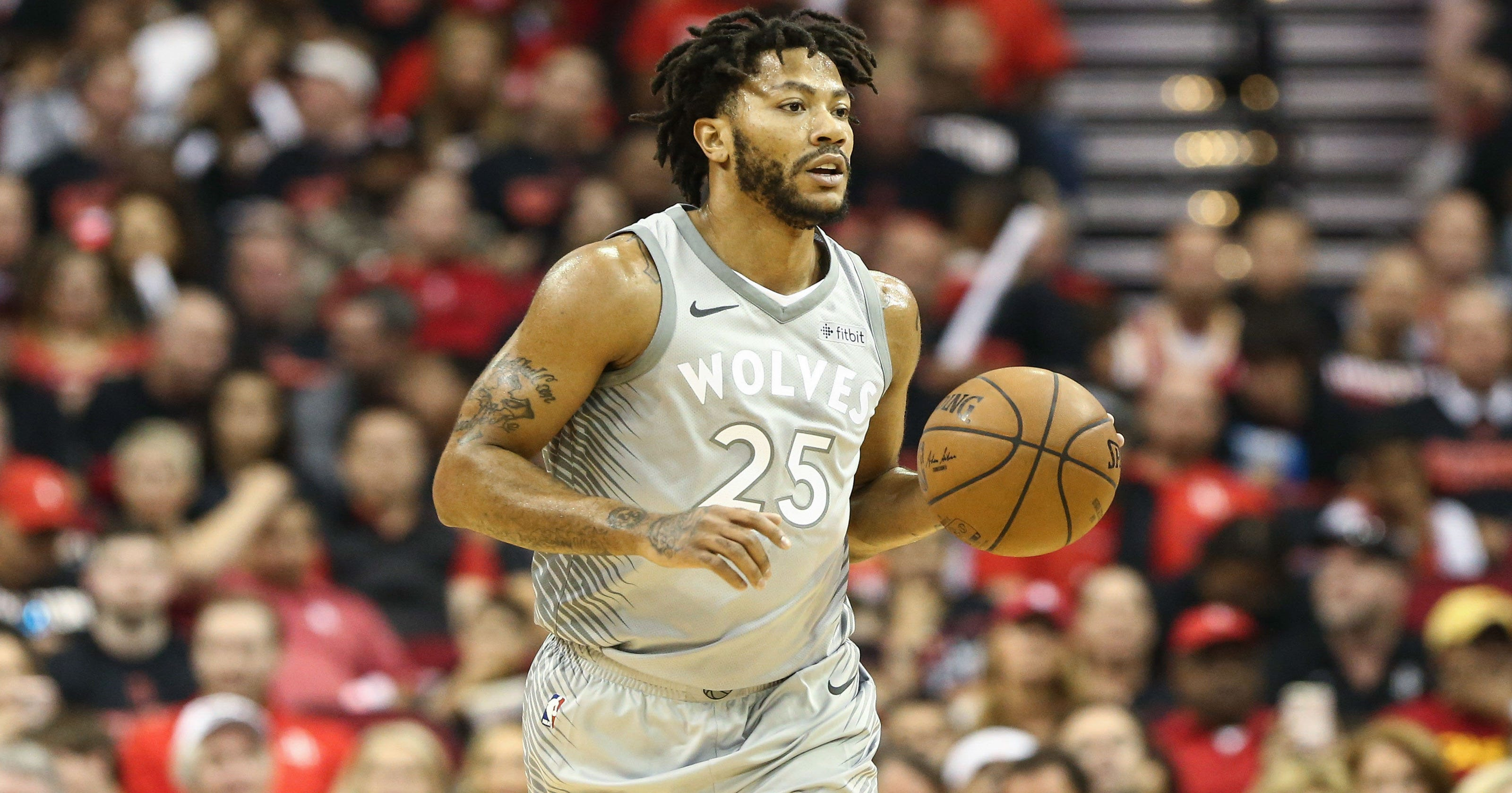 ac3a70733fab NBA playoffs  Mix-up over Derrick Rose s name sets Twitter ablaze
