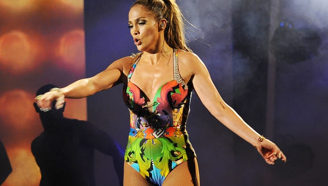Jennifer Lopez performs at the iHeartRadio Ultimate Pool Party in Miami Beach on June 28, 2014.