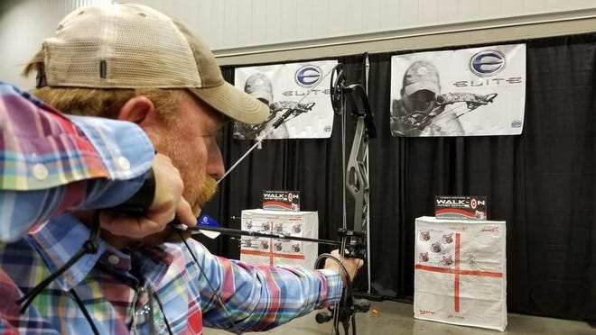 Luke's long time friend Kenneth Tallent with Double Lung Outdoors TV Show gets ready for bow season.