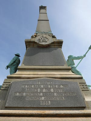 The Confederate monument on S. Third Street at the University of Louisville.  Mayor Greg Fischer and UofL President James Ramsey had a press conference on Friday morning announcing that the monument will be removed immediately.