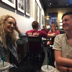 Leon High seniors Brie Grimes, left, and Lindsey Creel, right, hope their winning of prom king and queen will raise awareness about LGBTQ rights.