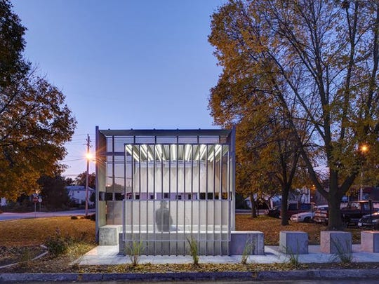 This smoking structure won a design award at the American Institute of Architects Iowa Chapter fall convention.