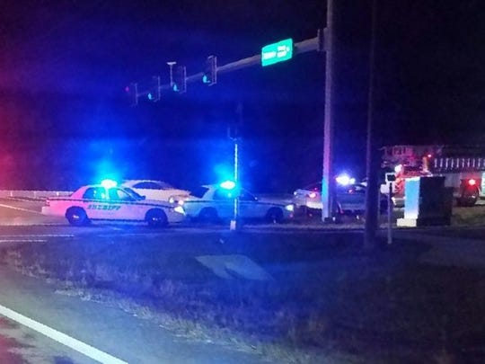 The Lee County Sheriff's Office, FHP and Estero Fire Department were at the scene of a fatal crash Sunday at U.S. 41 and Estero Boulevard.