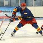 Colorado Junior Eagles hockey player Levi Weber, shown in a game last season, led the Eagles in points this year. The Eagles host Cheyenne in a best-of-three playoff series at NoCo Ice Center beginning at 8:40 p.m. Friday.