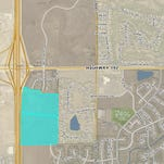 Doug Moreland, a Colorado car dealership owner, purchased the highlighted areas shown above in the map of Windsor.