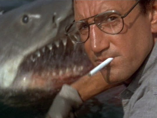 "Roy Scheider needs a bigger boat in the 1975 summer blockbuster ""Jaws."""