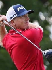 Former Texas A&M golfer Martin Piller playing in Barbasol