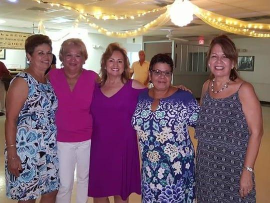 From left, Mary Figliola, Vivian Megaro, Daisy Aleman,