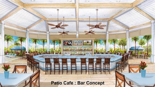 Included in the renovation plans is a new 150-seat outdoor dining area designed by Naples architect David Humphrey.