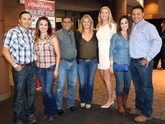 Raul Macias, left to right, Candace Macias, Mario Hernandez, Uschi Hernandez, Amie Goeldner, Heidi Blanc and Albert Lepe.