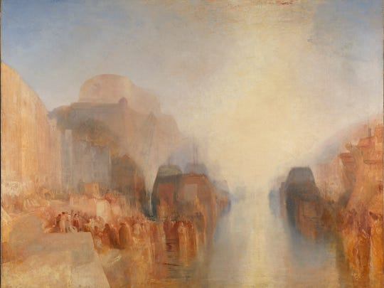 """Turner's unfinished """"The Harbour of Brest: The Quayside and Chateau."""""""