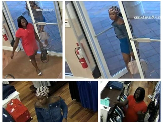 2ffb87f78 Pair accused of stealing from Ralph Lauren Polo store at Miromar Outlets.  Clerks say they re repeat thieves
