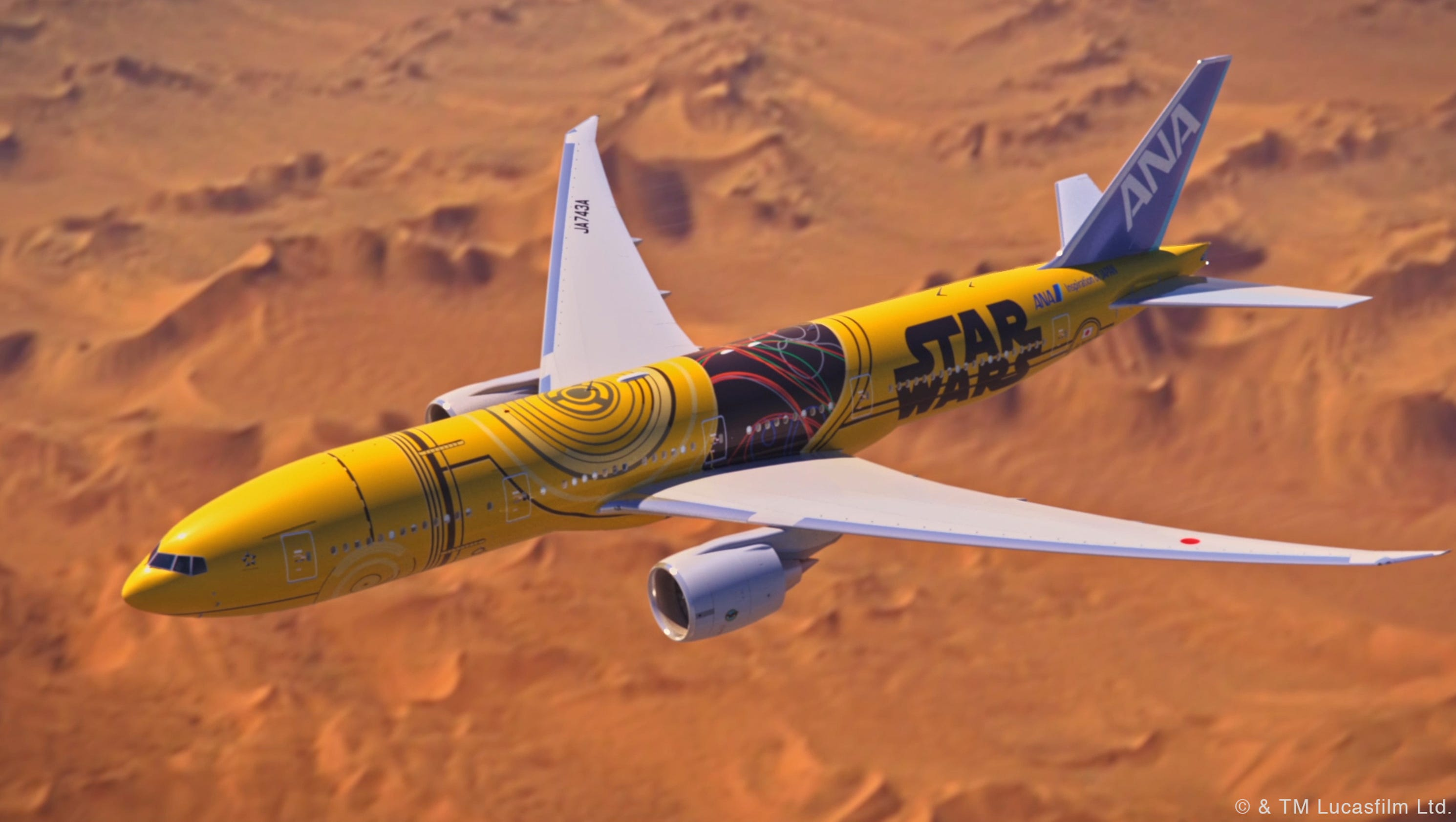 Best Selling Paint Ana To Roll Out Boeing 777 Painted Like Star Wars Droid C 3po