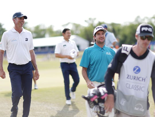 AVONDALE, LA - APRIL 28: Matt Kuchar and Bubba Watson