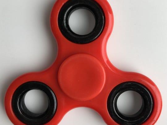 A fidget spinner