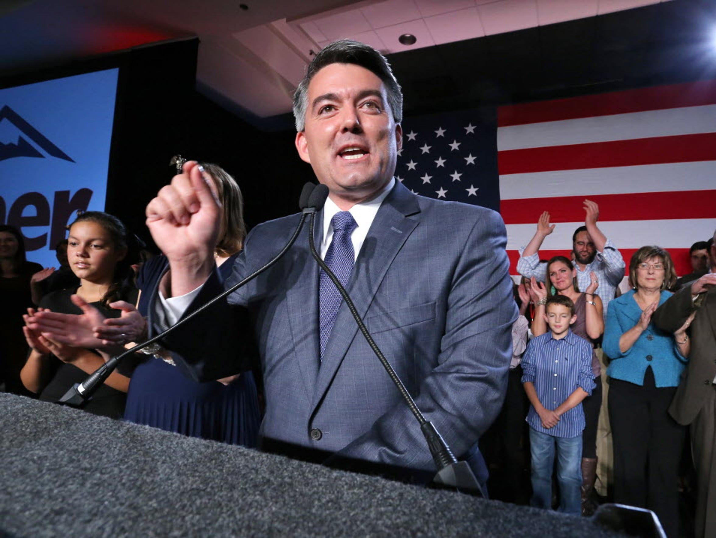 Sen.-elect Cory Gardner delivers his victory speech
