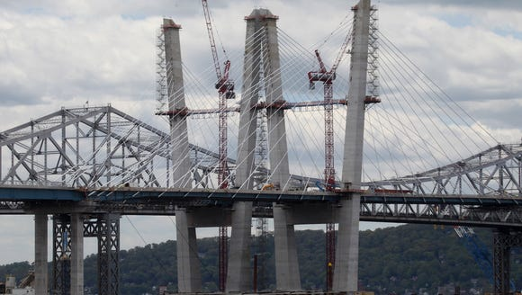 Check out the current Tappan Zee Bridge construction