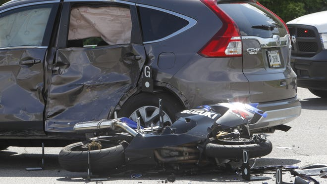 A motorcycle/SUV accident about 1:40 p.m. Wednesday at U.S. 52 and Cortez Drive seriously injured the biker. Accident is under investigation by Tippecanoe County sheriff's deputies.