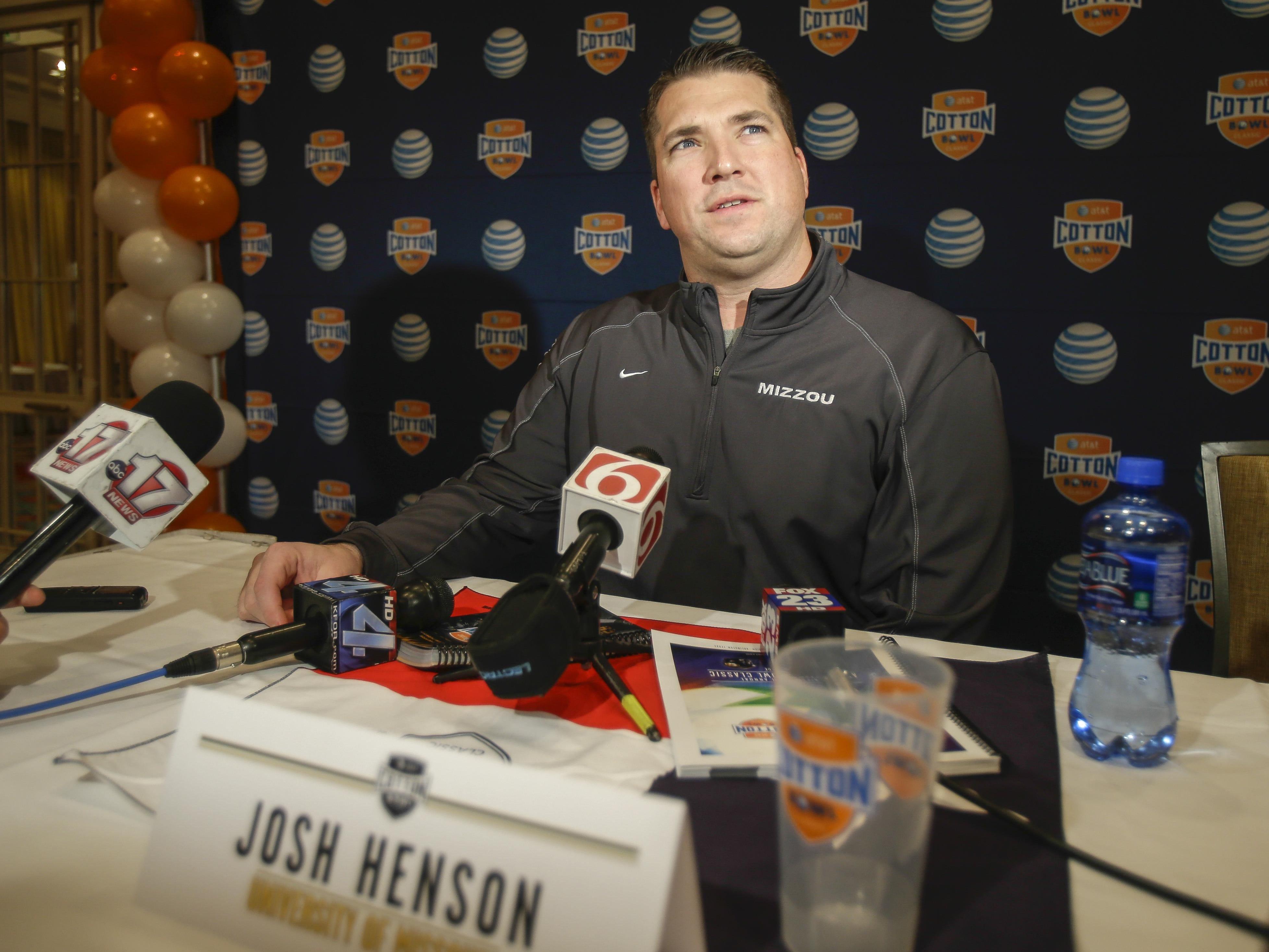 Missouri offensive coordinator Josh Henson was shocked by Gary Pinkel's decision to step down.
