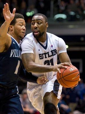 Butler forward Roosevelt Jones has moves like a Weeble Wobble, Gregg Doyel writes.
