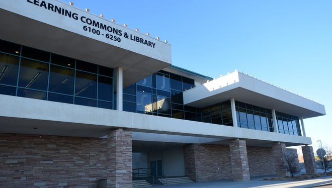 The proposed site for the newly named San Juan College High School is located on the first floor of the Learning Commons Building, as seen Thursday on the San Juan College campus.
