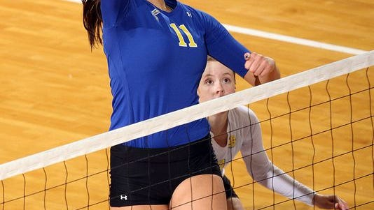 South Dakota State middle blocker and Roosevelt alum Wagner Larson will try to spark the Jackrabbits to success this season after the team struggled to a 5-22 record in 2013.