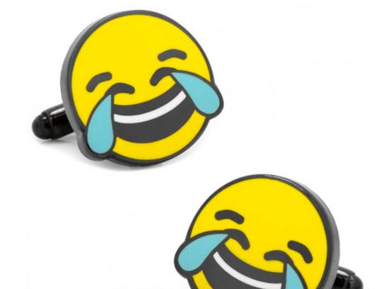 Emoji cufflinks for the always texting joker in your
