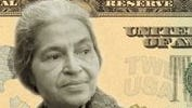 Simulated image of civil rights pioneer Rosa Parks, as it might appear on a $20 bill. There's an online voting campaign asking people to vote among 15 historic American women, in an effort to place a woman on an American greenback and replace the image of Andrew Jackson on the $20 bill. The campaign is called Women on 20s, or www.womenon20s.org