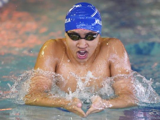 Zach Valenzuela developed into a top-flight breaststroker,