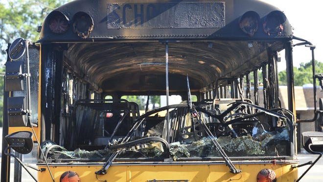 "The state Education Department has sought to replace 1995/96 school buses that have experienced a high number of so-called ""thermal events"" -- catching fire or seriously overheating. The old age of buses has been a factor, state education leaders say. A burned school bus is shown last May in Spartanburg. Authorities say more than 50 students escaped without injury after the school bus they were riding caught fire. Melissa Robinette, a spokeswoman for a Spartanburg school district, says the driver then parked the bus, helped students evacuate and then arriving firefighters put out the fire."