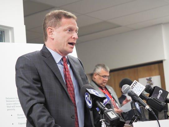 Delaware attorney general Matt Denn announces the formation