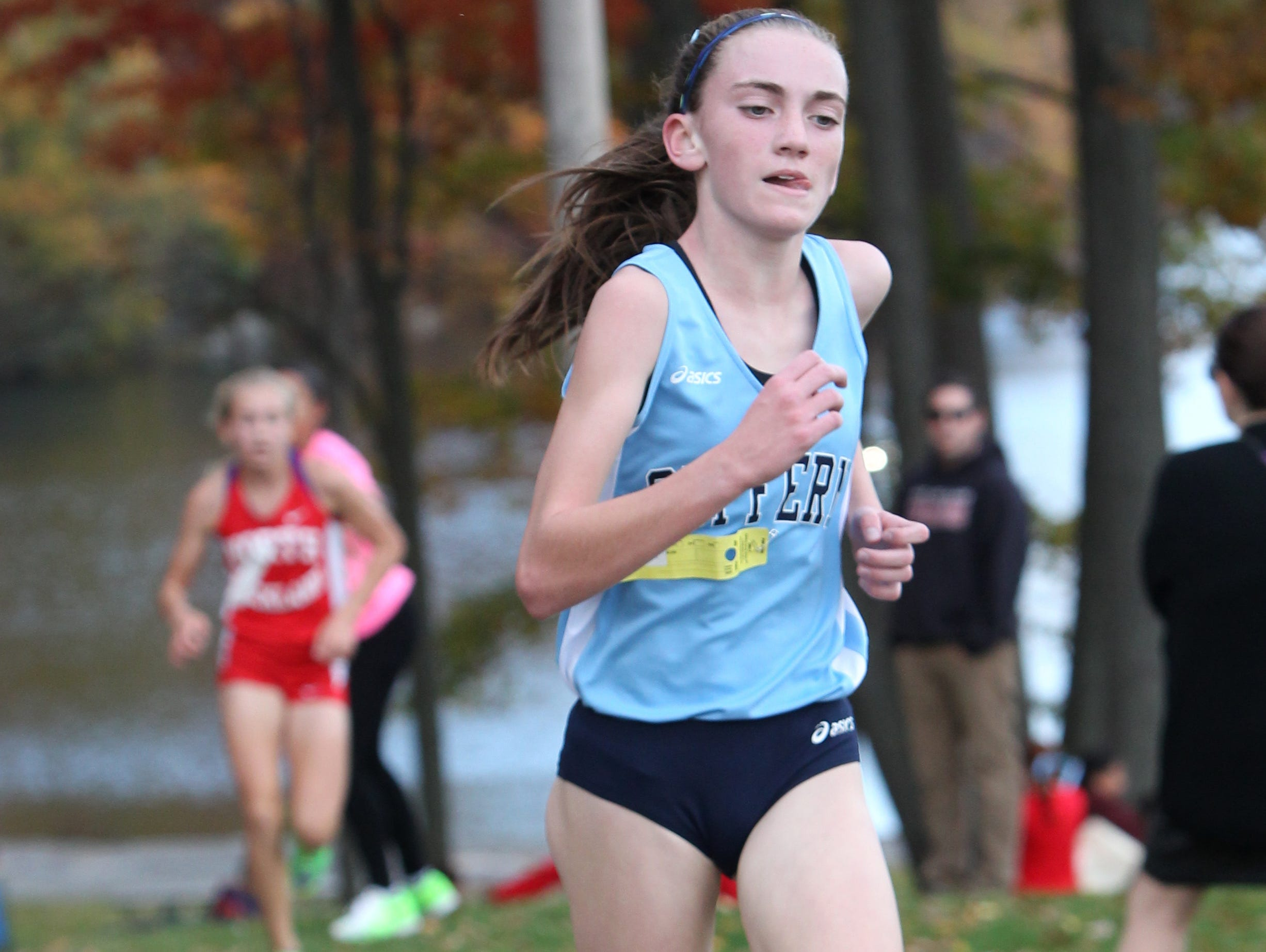Suffern's Mary Hennelly won the Rockland County Cross Country Championship at Bear Mountain Oct. 29, 2015.