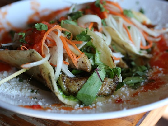 Fish tacos at Ripe Kitchen and Bar in Mount Vernon.