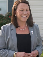 U.S. Rep. Martha Roby talks with a reporter after voting