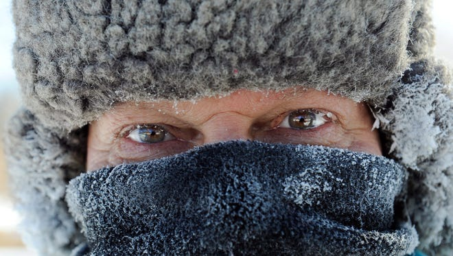 James Schlafer of Minneapolis bundled up  for his daily four- to five-mile walk in sub-zero temps in Minneapolis.
