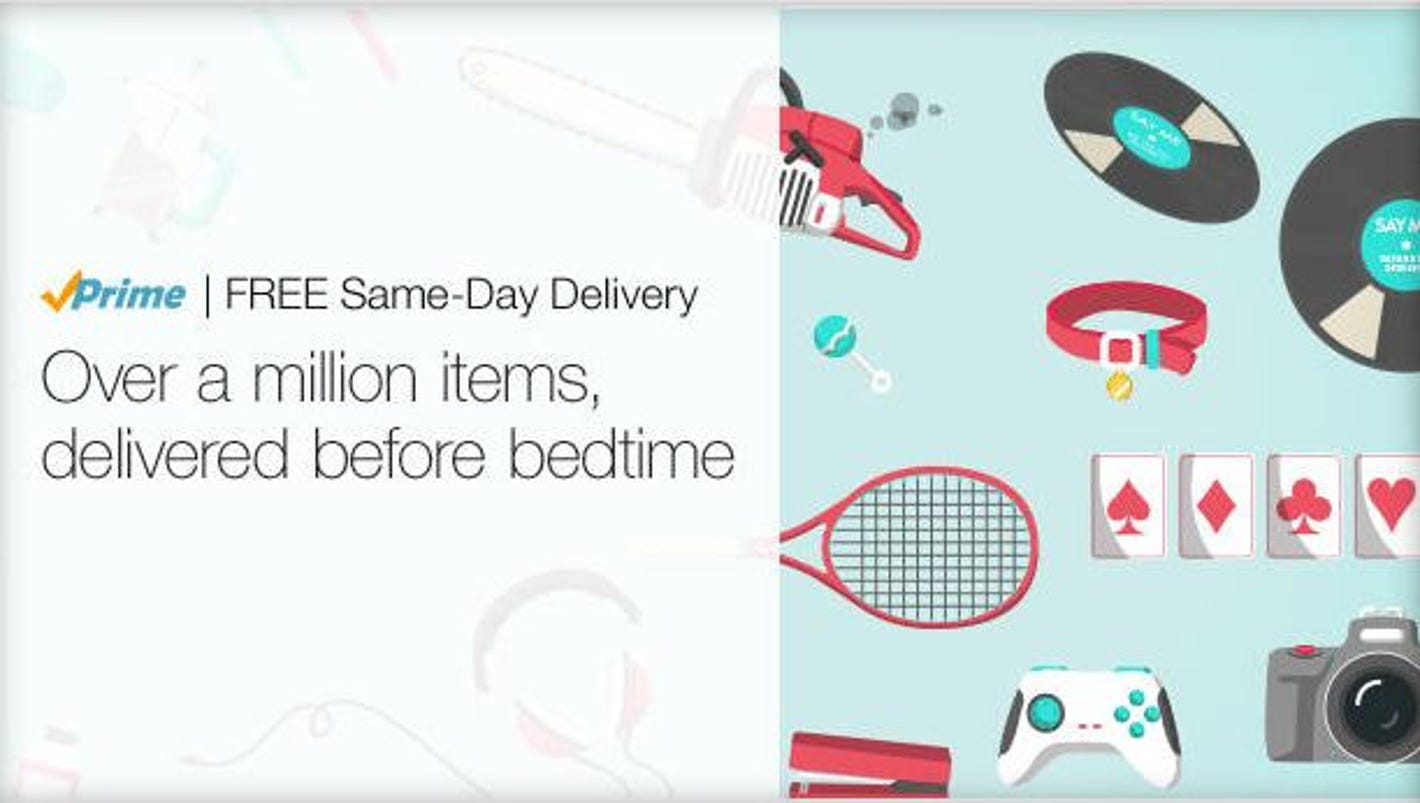 amazon now offering free same day delivery