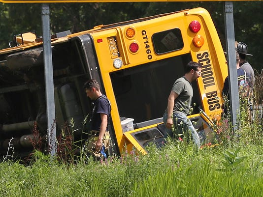 SCHOOL BUS ROLLOVER IN PURCHASE