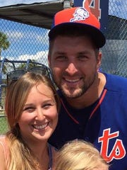 Laurie K. Blandford was happy to have Tim Tebow playing baseball for the St. Lucie Mets this year.