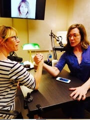 """""""Little Known Facts"""" creator Ilana Levine with recent guest Allison Janney."""