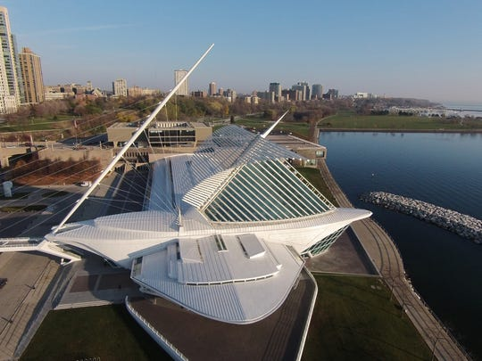 The Milwaukee Art Museum is a landmark along Lake Michigan