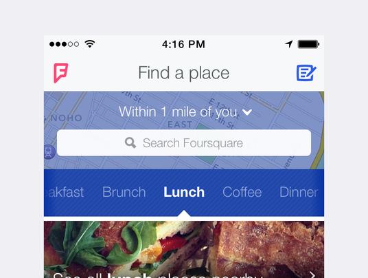 Foursquare homescreen